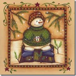 ChristmasSnowmanandcupofhotchocolat
