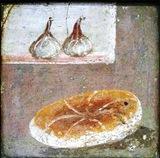 Mosaico pompeyano - Pan e higos -  MANN
