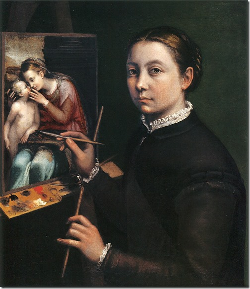 sofonisba anguissola - autoportret (1556, łańcut)