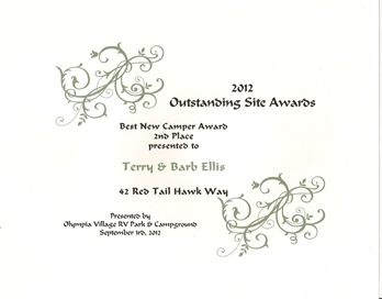 Outstanding Award for our Teeny Tiney Site