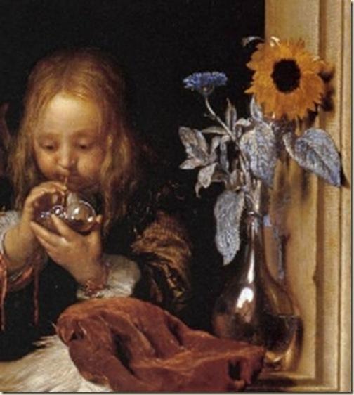 Van Mieris, l'enfant à la bulle de savon
