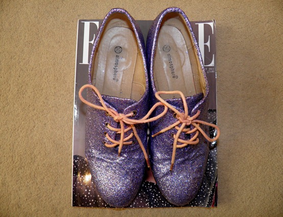 DIY GLITTER BROGUES 3