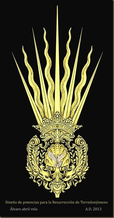 potencias resurreccion torredonjimeno diseño alvaro abril vela orfebreria cofrade 2013