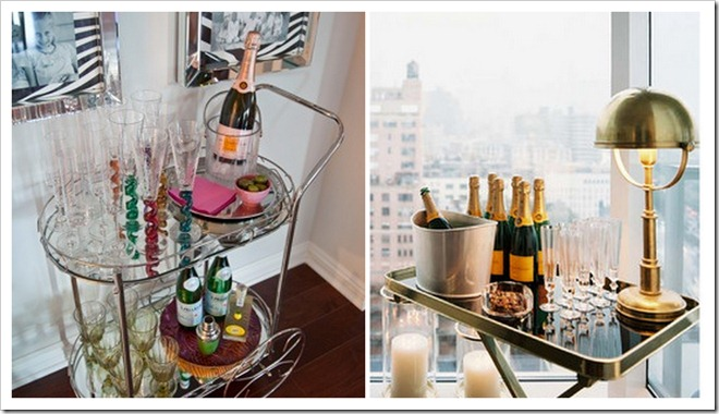 bar cart collage