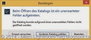 LR_defekter_Katalog_oeffnen