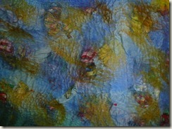 Fiber Layers--felting and shrinking--4
