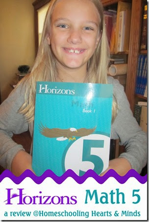 a review of Horizons Math 5 at Homeschooling Hearts & Minds