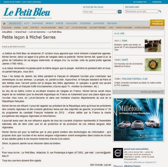 Michel Serre Petit Bleu
