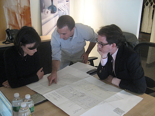 Carolyn, Anthony Santelli (MSL Home Editor), and I talk through the apartment plans and how to reconfigure the closet space.
