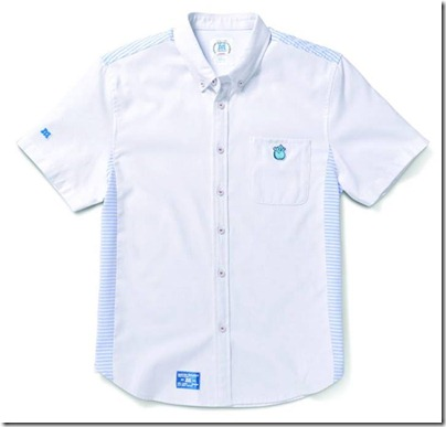 Monster University X Giordano - White Collar Shirt Men