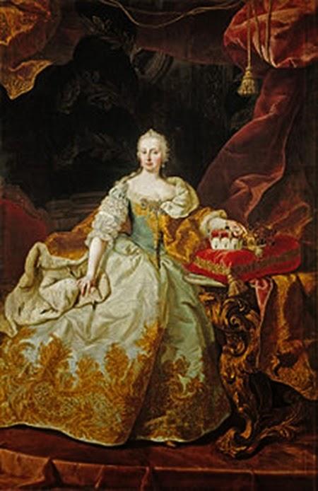 María Teresa como reina de Hungría en 1744