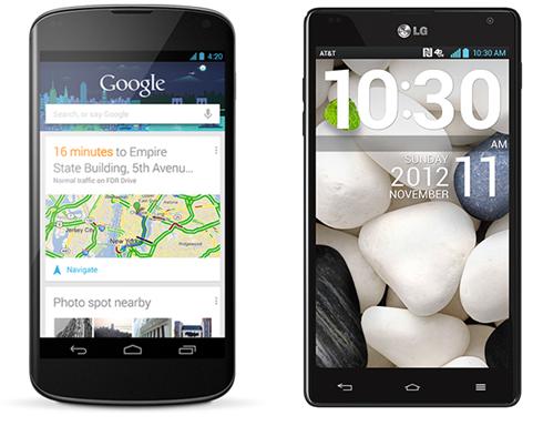 LG Nexus 4 and Optimus G Philippines