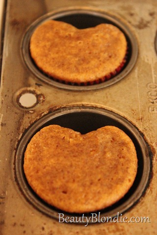 Cooked Heart Shaped Muffins