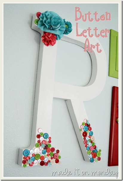 Button Letter Art