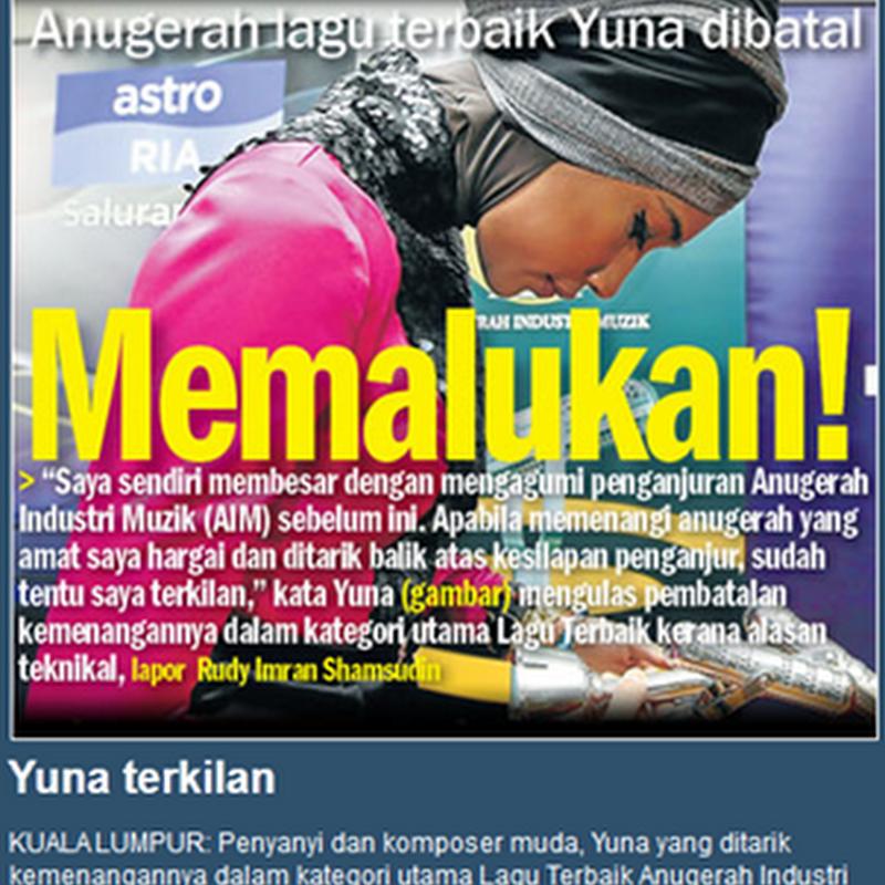 Isu AIM18 : Kemenangan Yuna satu kesilapan teknikal