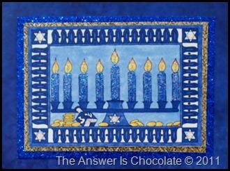 Glitter Hanukkah Card