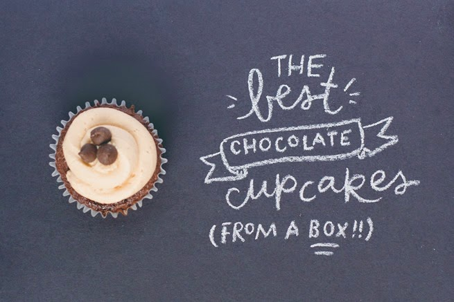 box mix chocolate cupcakes