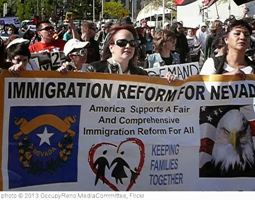 'IMMIGRATION REFORM' photo (c) 2013, OccupyReno MediaCommittee - license: http://creativecommons.org/licenses/by-nd/2.0/
