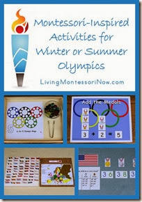 Montessori-Inspired-Activities-for-Winter-or-Summer-Olympics from Living Montessori Now