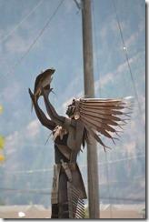 Figur im Memorial Park von Okanagan Falls