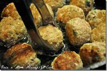 cooking turkey basil meatballs