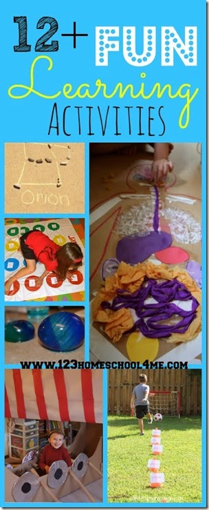 12+ Hands on FUN learning activities for homeschoolers