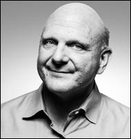 Steve Ballmer B&W Portrait