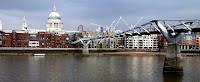 Millennium Bridge, and St Paul's