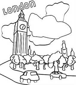 Big Ben Coloring Pages on universal studios