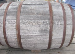 Plymouth Mayflower 8.13 wooden cask