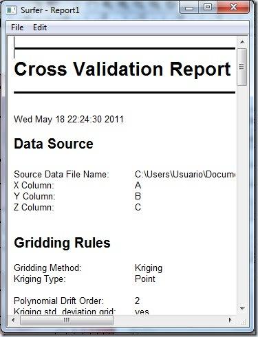 F33 reporte de cros validation