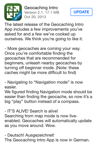 Geocaching Intro 2.1 for iOS