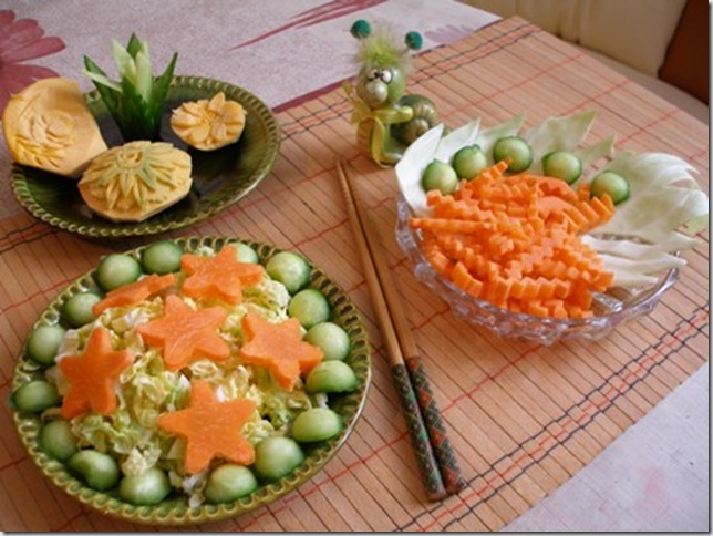 Tips vegetable carving for everyday dish away