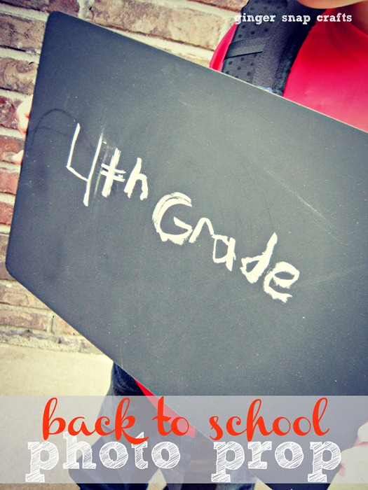 easy back to school photo prop from gingersnapcrafts.com