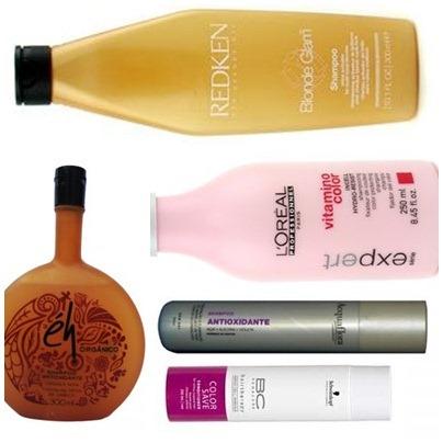 Shampoos antioxidante