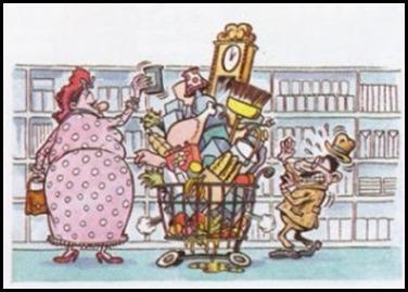 Il carrello dela spesa del consumista compulsivo