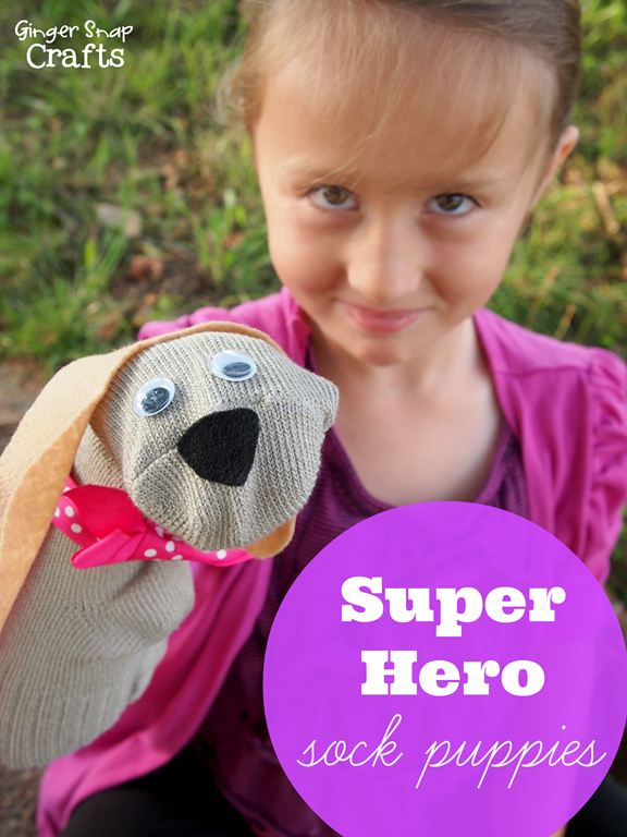 Super Hero Sock Puppies inspired by Disney's Super Buddies