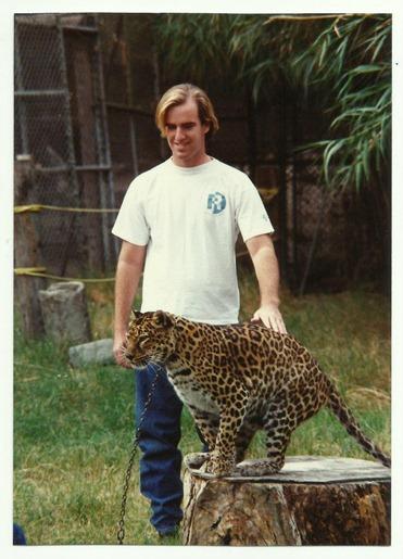 sean with cheetah
