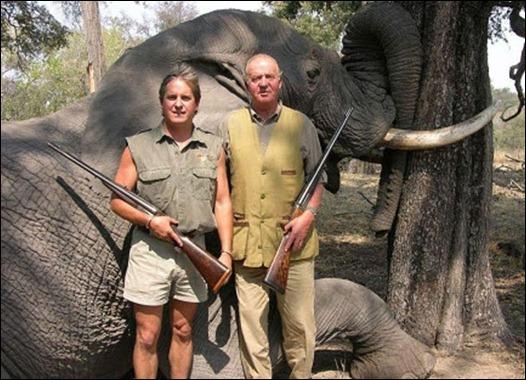 Rei de Espanha mata elefantes