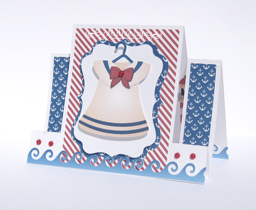 Nini Scrap - Nautical Bears - Ruthie Lopez - Center Step Card