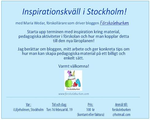 Inspirationskväll i Stockholm!