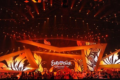 People applaud during the Second Semi-Final of the Eurovision 2012 song contest in the Azerbaijan's capital Baku