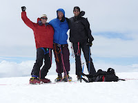 Josh, Arlo and Jorma on the summit of Mt Baker.