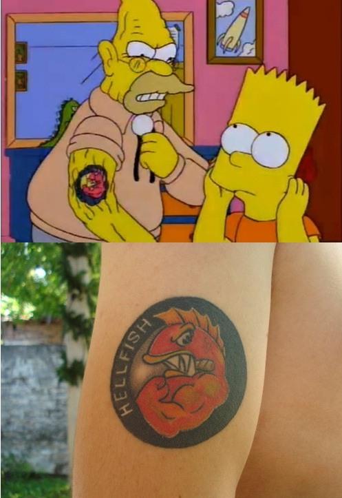 El tatuaje del Abuelo Simpson