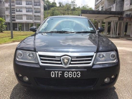 The mighty Proton Waja - Car hire at Sibu, Airport