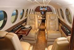 Parte interna do Avião Turboélice King Air 350