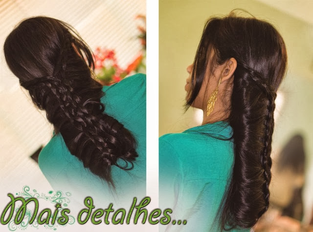 penteado com tranças