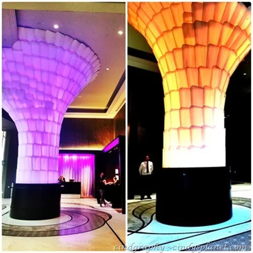 rendezvous singapore hote lobby panel lighting