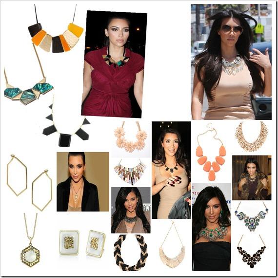 Kim Kardashian statement necklaces