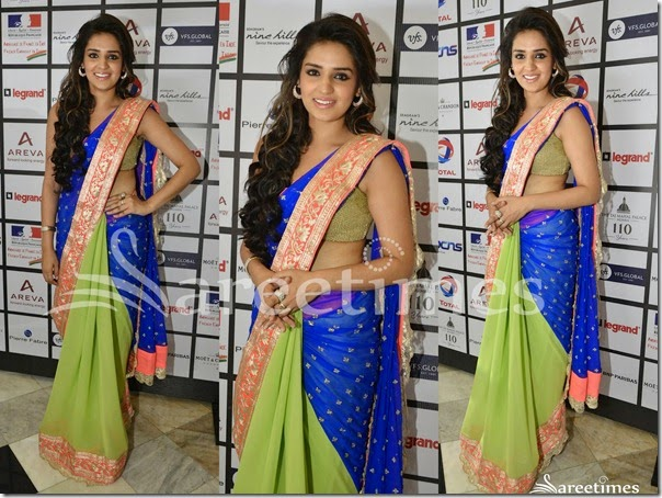 Blue_Green_Half_and_Half_Saree